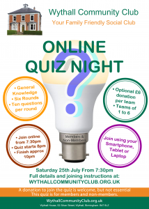 Wythall Community Club Quiz Nights